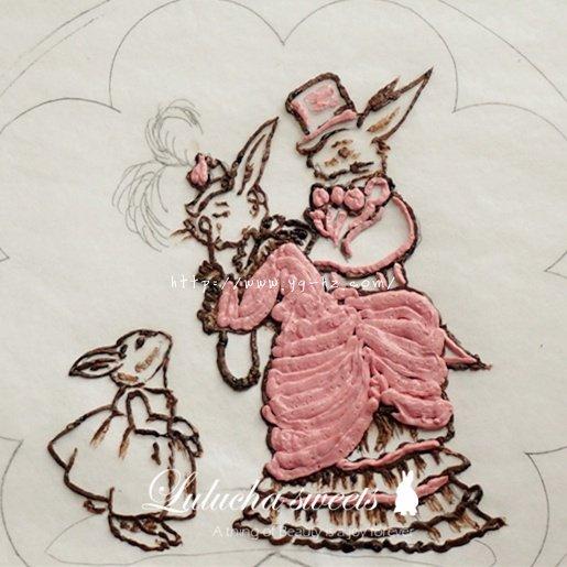 奶油霜转印蛋糕(彩铅漫画质感)的做法 步骤7