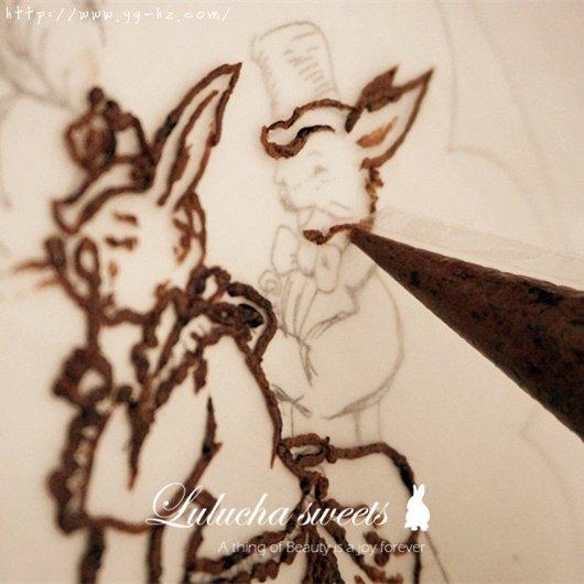 奶油霜转印蛋糕(彩铅漫画质感)的做法 步骤5