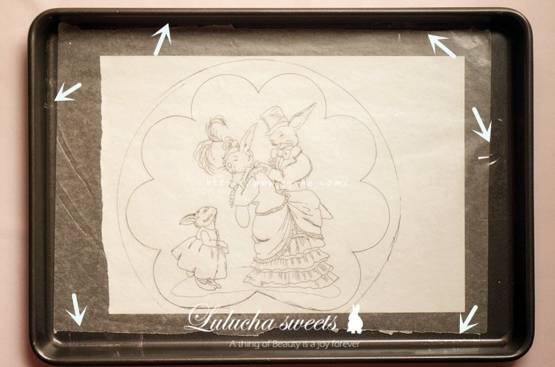 奶油霜转印蛋糕(彩铅漫画质感)的做法 步骤4