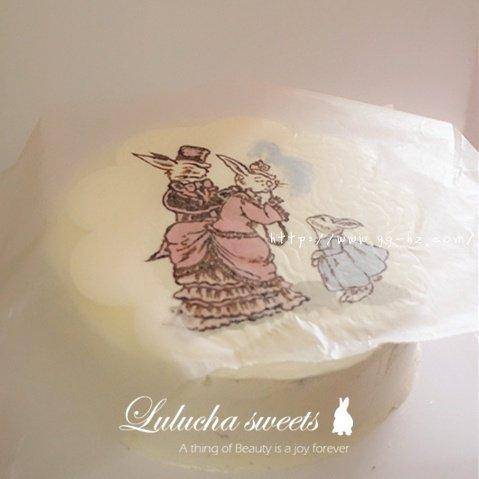 奶油霜转印蛋糕(彩铅漫画质感)的做法 步骤13