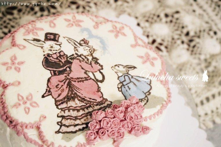 奶油霜转印蛋糕(彩铅漫画质感)的做法 步骤16