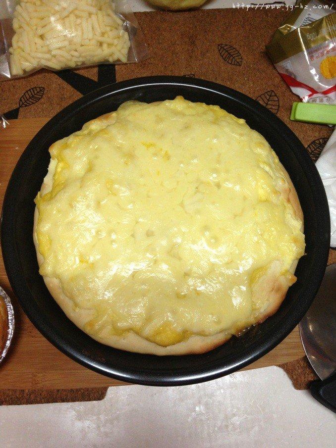 芝士榴莲披萨的做法 步骤8