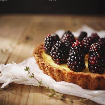 黑莓乳酪塔的做法