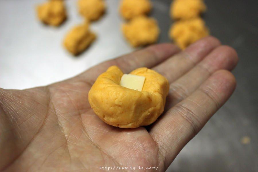 红薯系列——夹馅红薯丸子(奶酪)的做法 步骤6
