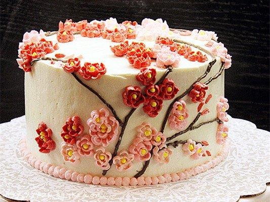裱花好用的瑞士奶油霜Swiss Meringue Buttercream Icing和樱花的裱花方法的做法