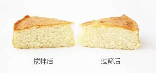搅拌和过筛后制作蛋糕的区别