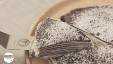 巧克力酸奶千层可丽饼完成