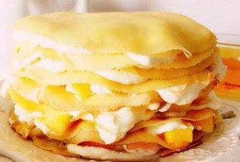 不用烤箱怎么做芒果千层蛋糕【图】