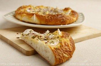 芝士洋葱佛卡夏面包的做