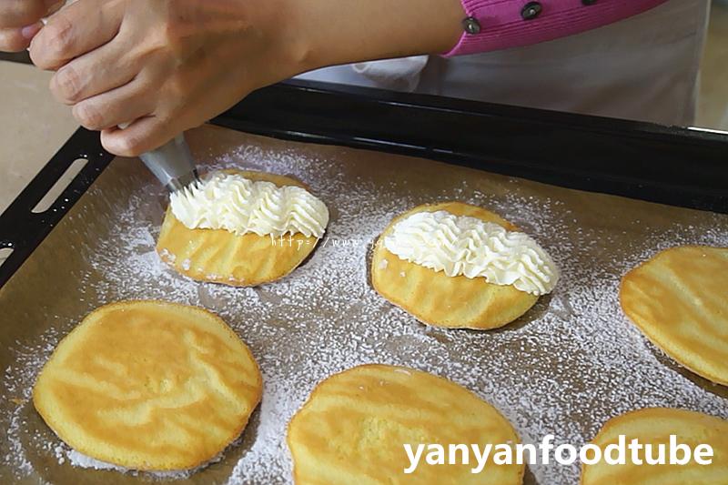 奶油元宝小蛋糕 Yuanbao Cake的做法 步骤10