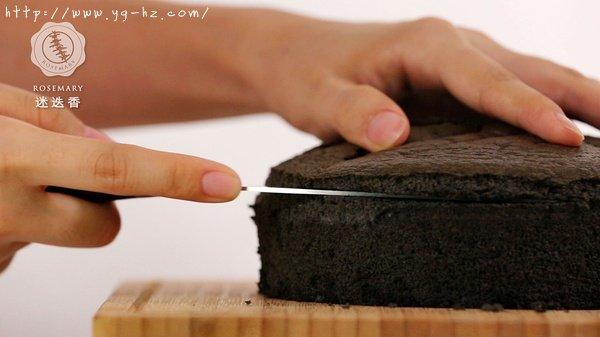 切去蛋糕表面