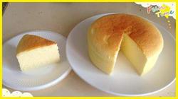 烤好后的轻乳酪芝士蛋糕
