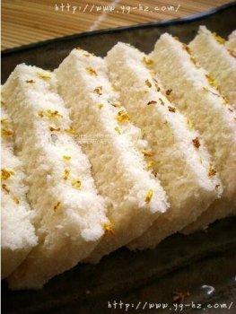 桂花松糕的做法