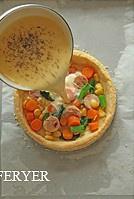 蔬菜鸡肉蛋奶塔的做法 步骤15