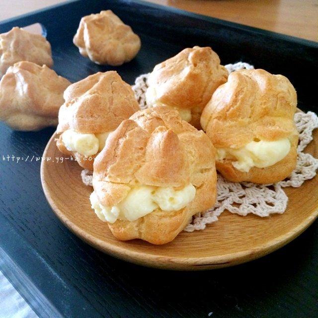 卡仕达奶油泡芙的做法 步骤10