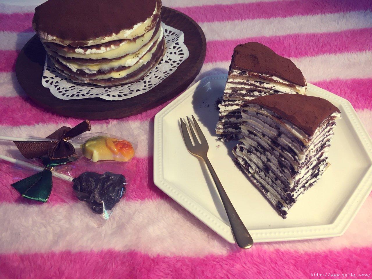 奥利奥双色千层蛋糕的做法 步骤22