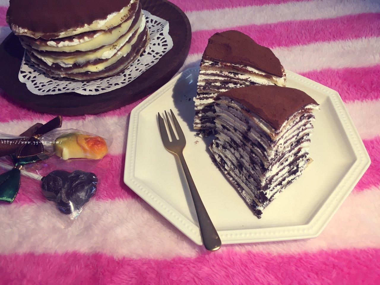 奥利奥双色千层蛋糕的做法