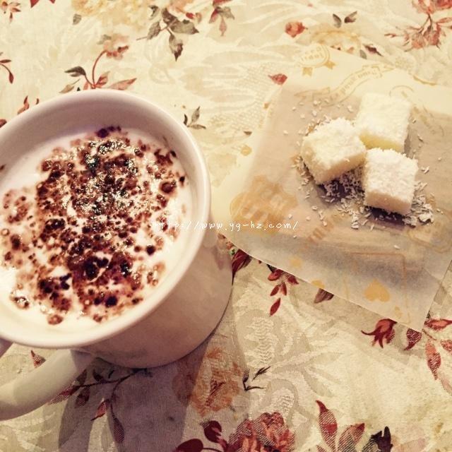 椰子奶糕(附上脆炸鲜奶做法)的做法 步骤9