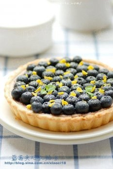 蓝莓夹心乳酪塔的做法