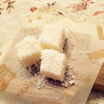 椰子奶糕(附上脆炸鲜奶