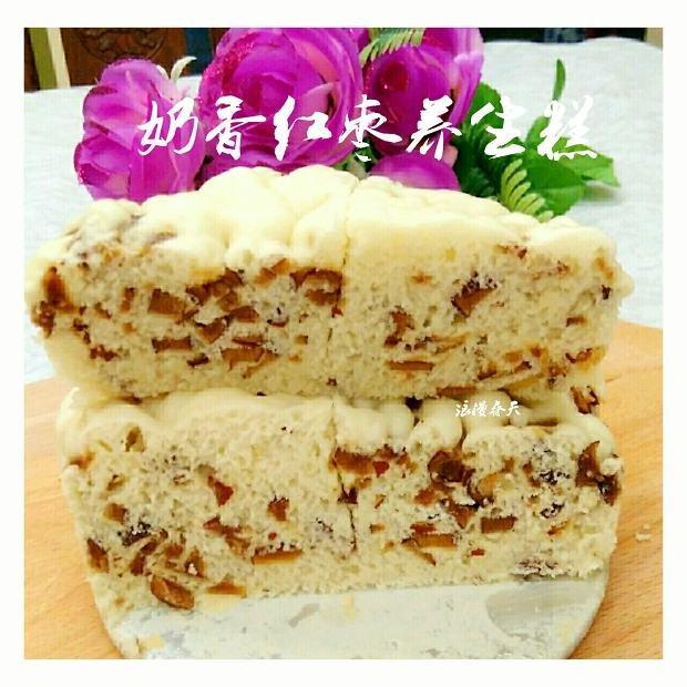 奶香红枣养生糕(简易酵母版)的做法