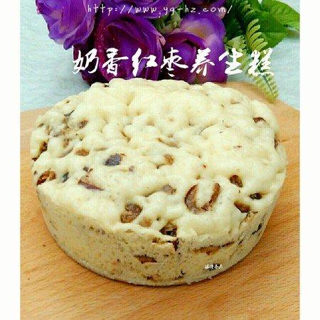 奶香红枣养生糕(简易酵母版)的做法 步骤11