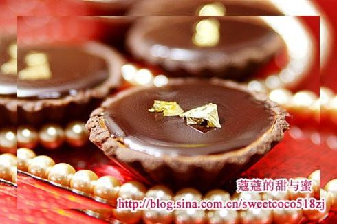 金箔巧克力芝士塔的做法