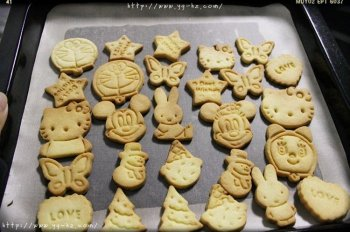 黄油动物饼干—送给小朋友的生日礼物