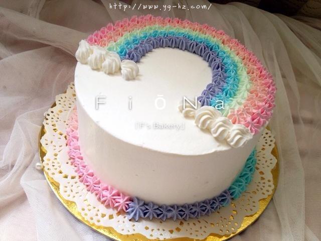 详细的裱花教程--彩虹蛋糕的做法