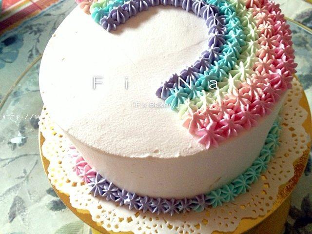 详细的裱花教程--彩虹蛋糕的做法 步骤23