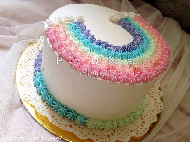 详细的裱花教程--彩虹蛋糕的做法 步骤26