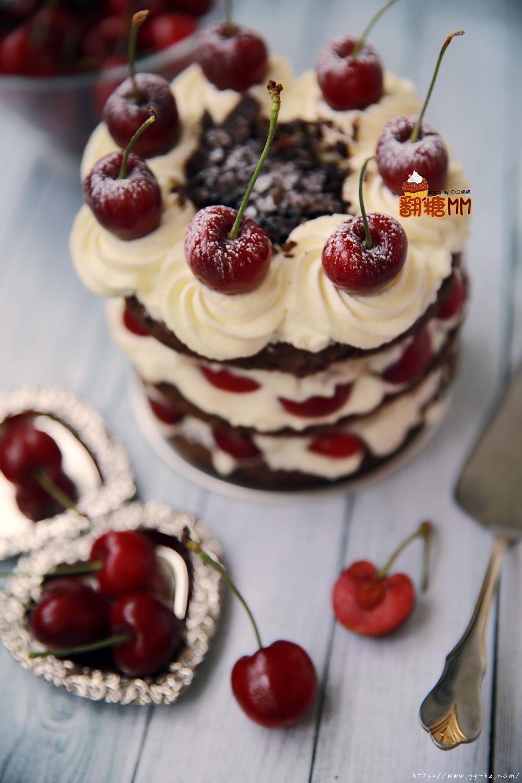 黑森林裸蛋糕的做法 步骤23