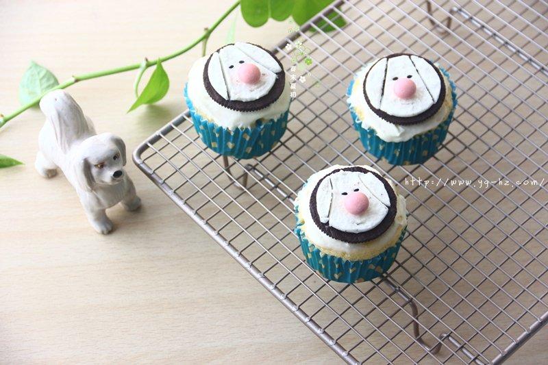 可爱卡通小狗杯子蛋糕的做法