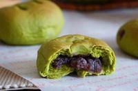 抹茶豆沙小面包(无油脂)的做法 步骤22