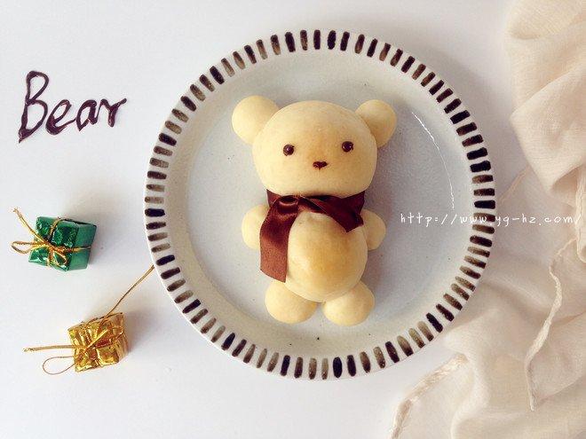 可爱小熊面包的做法