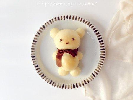 可爱小熊面包的做法 步骤13