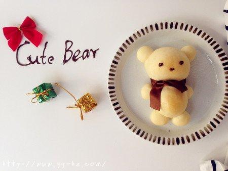 可爱小熊面包的做法 步骤14