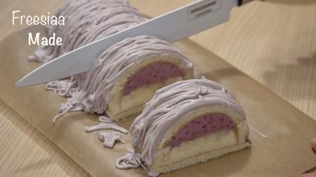 【视频】葡萄朗姆酒 慕斯蛋糕的做法 步骤20