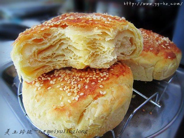 油盐千层烧饼的做法 步骤9
