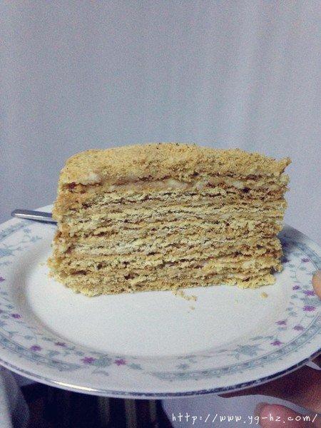俄罗斯蜂蜜蛋糕   千层蛋糕【又名提拉米苏】的做法 步骤27
