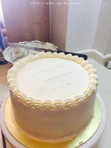 生日蛋糕教程【威化饼干围边】的做法 步骤13