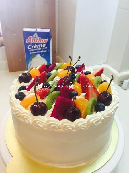 生日蛋糕教程【威化饼干围边】的做法 步骤16