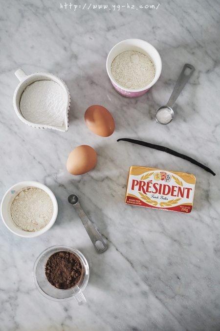 法国总统烘焙学院-香草巧克力大理石磅蛋糕的做法 步骤1