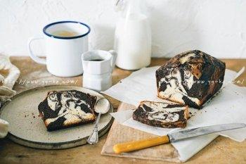 香草巧克力大理石磅蛋糕