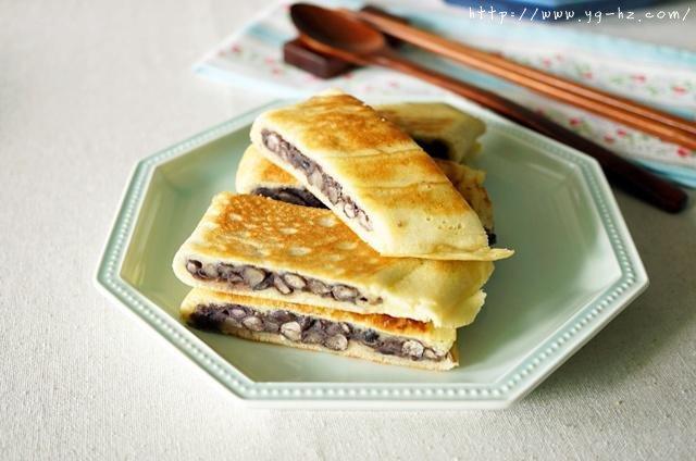平底锅版蜜红豆饼的做法 步骤6