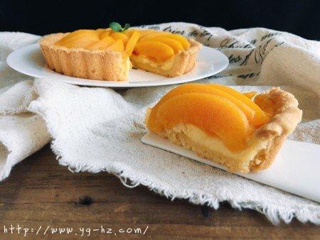 清爽黄桃乳酪派的做法 步骤12
