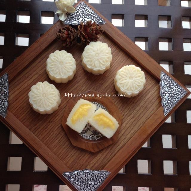 芒果芝士冰皮月饼的做法 步骤5
