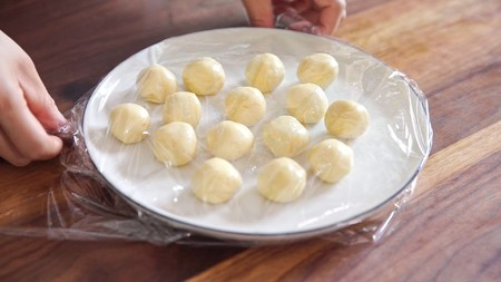 流心奶黄月饼(无吉士粉/转化糖浆版本)【曼食慢语】的做法 步骤16