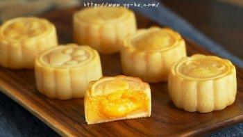 流心奶黄月饼(无吉士粉/转化糖浆版本)