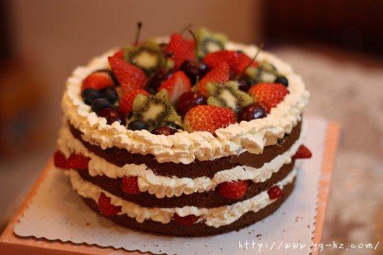 巧克力戚风裸蛋糕的做法 步骤20